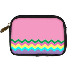 Easter Chevron Pattern Stripes Digital Camera Cases