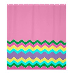 Easter Chevron Pattern Stripes Shower Curtain 66  X 72  (large)