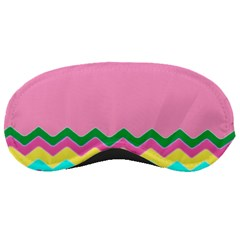 Easter Chevron Pattern Stripes Sleeping Masks