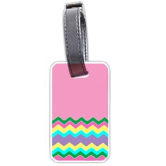 Easter Chevron Pattern Stripes Luggage Tags (two Sides)