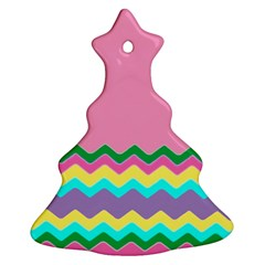 Easter Chevron Pattern Stripes Ornament (christmas Tree)