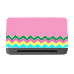 Easter Chevron Pattern Stripes Memory Card Reader With Cf