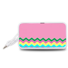 Easter Chevron Pattern Stripes Portable Speaker (white)