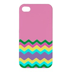 Easter Chevron Pattern Stripes Apple Iphone 4/4s Premium Hardshell Case