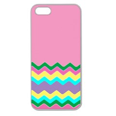 Easter Chevron Pattern Stripes Apple Seamless Iphone 5 Case (clear)