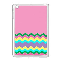 Easter Chevron Pattern Stripes Apple Ipad Mini Case (white)