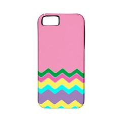 Easter Chevron Pattern Stripes Apple Iphone 5 Classic Hardshell Case (pc+silicone)