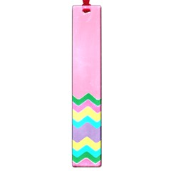 Easter Chevron Pattern Stripes Large Book Marks