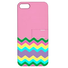 Easter Chevron Pattern Stripes Apple Iphone 5 Hardshell Case With Stand