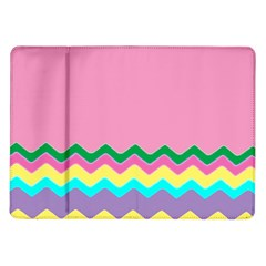 Easter Chevron Pattern Stripes Samsung Galaxy Tab 10 1  P7500 Flip Case