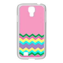 Easter Chevron Pattern Stripes Samsung Galaxy S4 I9500/ I9505 Case (white)