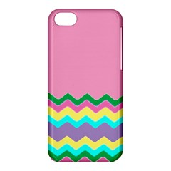Easter Chevron Pattern Stripes Apple Iphone 5c Hardshell Case