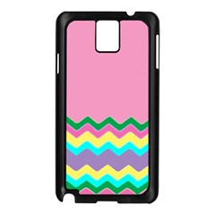 Easter Chevron Pattern Stripes Samsung Galaxy Note 3 N9005 Case (black)