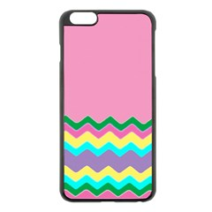 Easter Chevron Pattern Stripes Apple Iphone 6 Plus/6s Plus Black Enamel Case