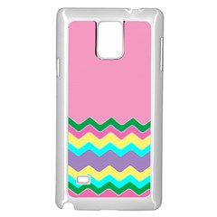 Easter Chevron Pattern Stripes Samsung Galaxy Note 4 Case (white)