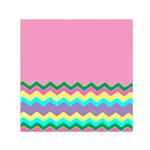 Easter Chevron Pattern Stripes Small Satin Scarf (Square) Front
