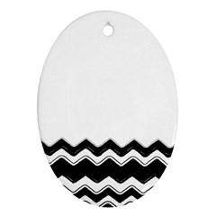 Chevrons Black Pattern Background Ornament (oval)