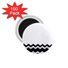 Chevrons Black Pattern Background 1 75  Magnets (100 Pack)