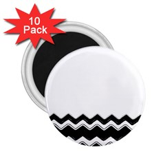 Chevrons Black Pattern Background 2 25  Magnets (10 Pack)