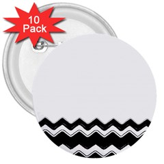 Chevrons Black Pattern Background 3  Buttons (10 Pack)
