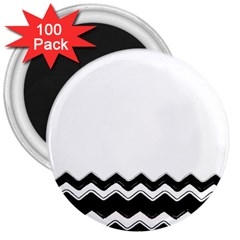 Chevrons Black Pattern Background 3  Magnets (100 Pack)
