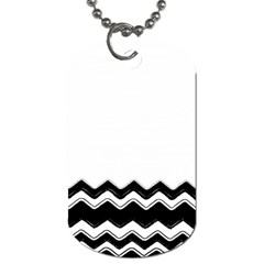 Chevrons Black Pattern Background Dog Tag (two Sides)