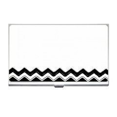 Chevrons Black Pattern Background Business Card Holders