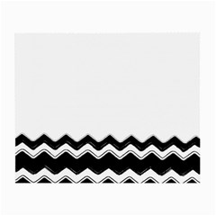 Chevrons Black Pattern Background Small Glasses Cloth