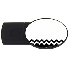 Chevrons Black Pattern Background Usb Flash Drive Oval (4 Gb)