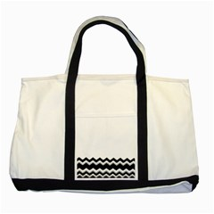 Chevrons Black Pattern Background Two Tone Tote Bag