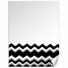 Chevrons Black Pattern Background Canvas 12  X 16