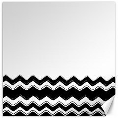 Chevrons Black Pattern Background Canvas 16  X 16