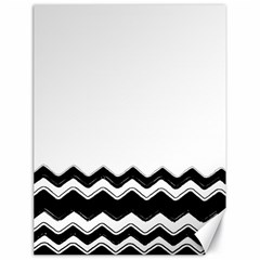 Chevrons Black Pattern Background Canvas 18  X 24
