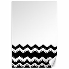 Chevrons Black Pattern Background Canvas 20  X 30