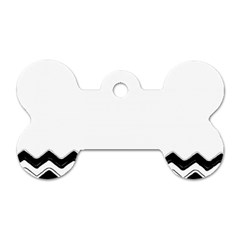 Chevrons Black Pattern Background Dog Tag Bone (one Side)