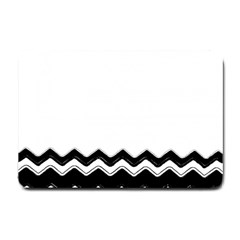 Chevrons Black Pattern Background Small Doormat