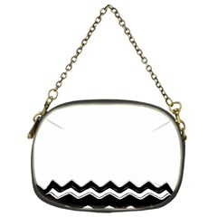 Chevrons Black Pattern Background Chain Purses (one Side)