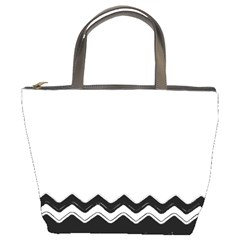 Chevrons Black Pattern Background Bucket Bags