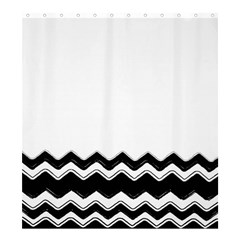 Chevrons Black Pattern Background Shower Curtain 66  X 72  (large)