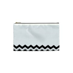 Chevrons Black Pattern Background Cosmetic Bag (small)
