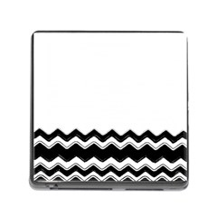Chevrons Black Pattern Background Memory Card Reader (square)