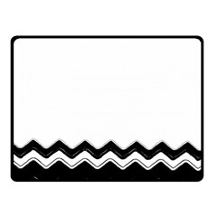 Chevrons Black Pattern Background Fleece Blanket (small)