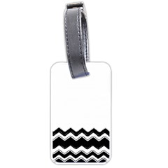 Chevrons Black Pattern Background Luggage Tags (one Side)
