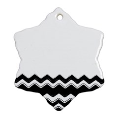 Chevrons Black Pattern Background Snowflake Ornament (two Sides)