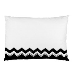 Chevrons Black Pattern Background Pillow Case (two Sides)