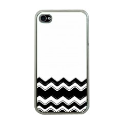 Chevrons Black Pattern Background Apple Iphone 4 Case (clear)