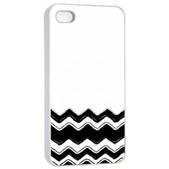Chevrons Black Pattern Background Apple Iphone 4/4s Seamless Case (white)