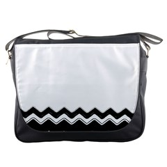 Chevrons Black Pattern Background Messenger Bags