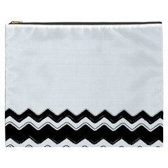Chevrons Black Pattern Background Cosmetic Bag (xxxl)