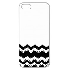 Chevrons Black Pattern Background Apple Seamless iPhone 5 Case (Clear)
